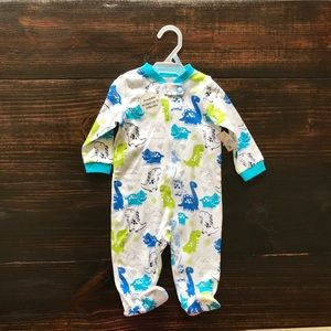Baby boy dinosaurs cotton footed pajamas
